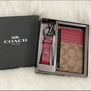 COACH ZIP CARD HOLDER & KET CHAIN HOLDER